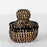 "Black African Nesting Box With Lid - Small (3.5""h)"