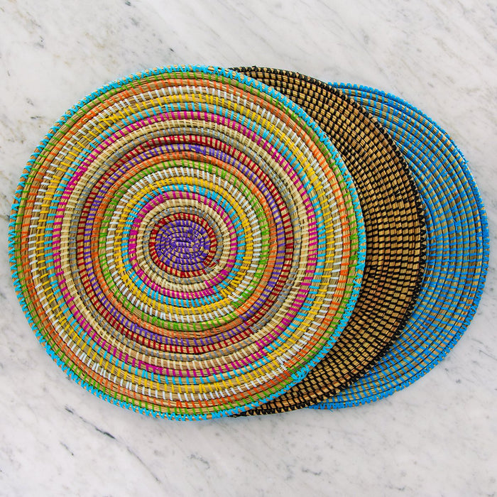 Black African Woven Placemat
