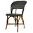 Black & Cream Mediterranean Bistro Wrap Back Chair (D)