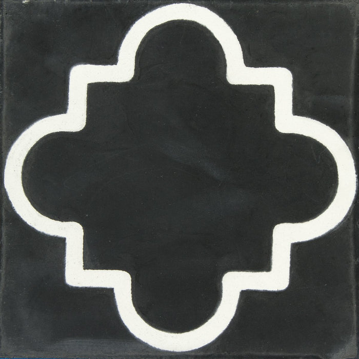 "Black & White Argrigento Carocim Tile (8"" x 8"") (pack of 12)"