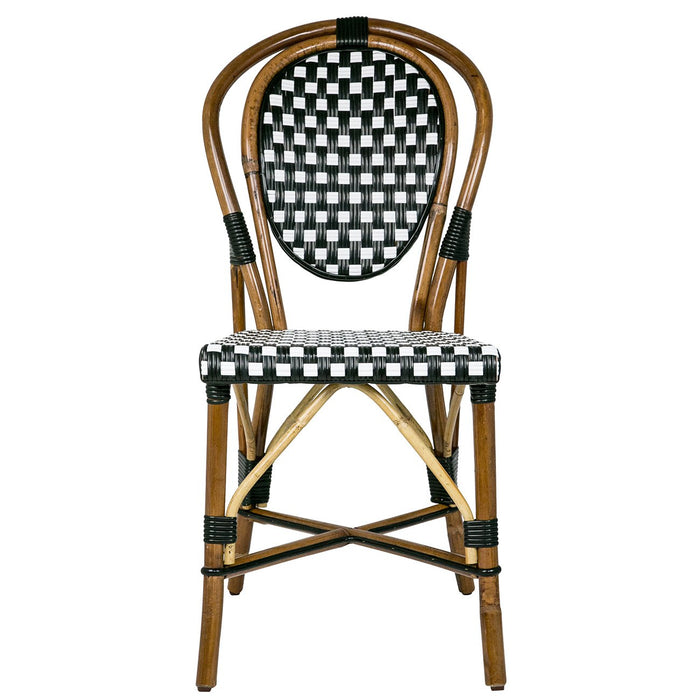 Black & White Mediterranean Bistro Chair (B)