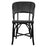 Black and White Mediterranean Bistro Wrap Back Chair (H)