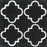 "Black & White Taormina Carocim Tile (8"" x 8"") (pack of 12)"