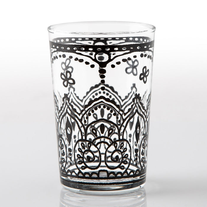 Black Armelle Moroccan Tea Glass