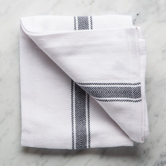 Black Brooklyn Tea Towel