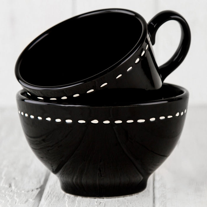 "Black Ceramic Alfa Bowl (5.5""⌀)"