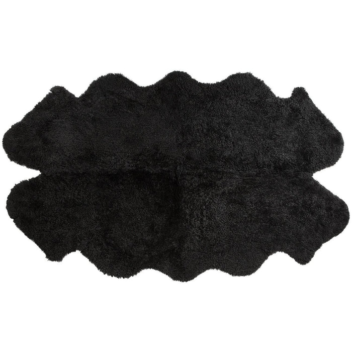 Black Curly New Zealand Sheep Rug
