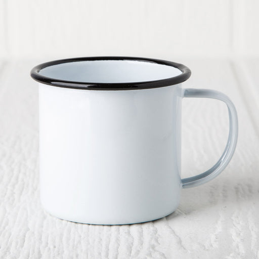 Black Enamelware Coffee Mug (8 oz.)