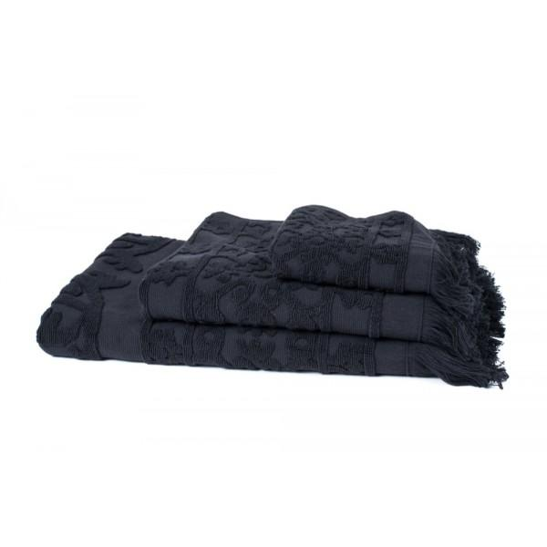 Black Hammam Bath Towel