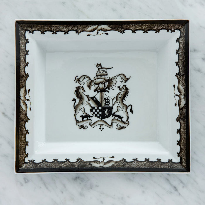 Black Heraldry Decorative Tray