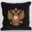 Black Horse Crest Pillow