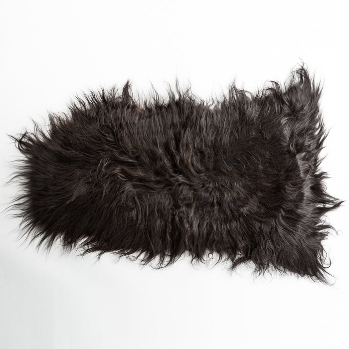 Black Icelandic Sheep Rug