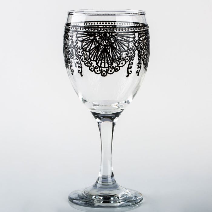 Black Lalla Moroccan Wine Glass