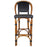 "Black Mediterranean Bistro Bar Stool with Back (29"" h seat) (L)"