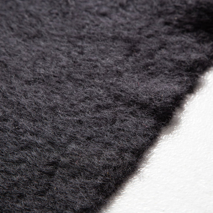 Black Mohair Throw Blanket