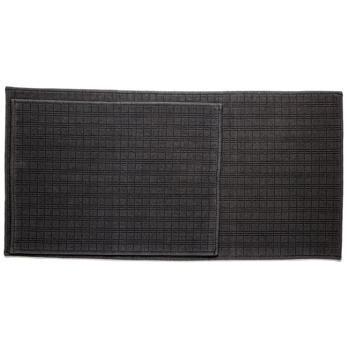 "Black Motif Cotton Bath Mat (44"" x 22"")"