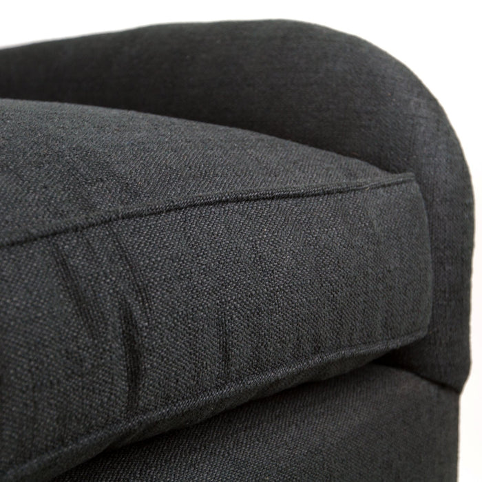 Black Poe Linen Upholstered Chair