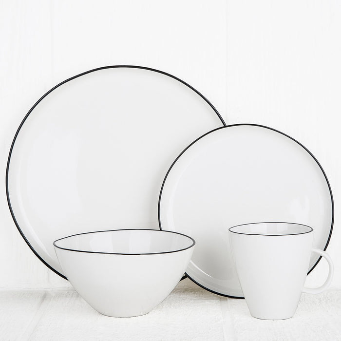 Black Rimmed Ceramic Dinnerware