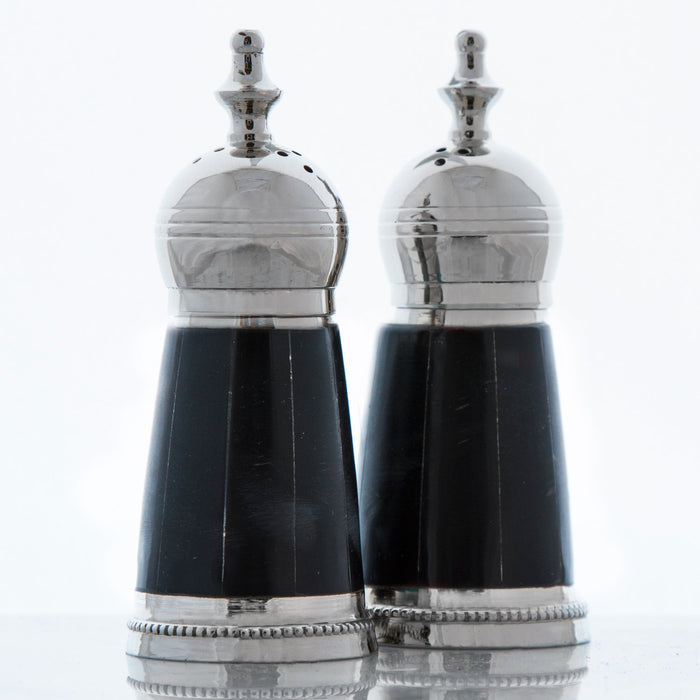 Black Salt and Pepper Shakers