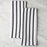 Black Striped Cotton Kitchen Towels (Pair)