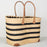 Black Striped Market Basket