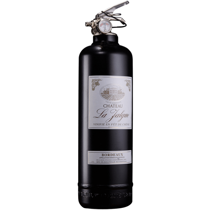 Black Wine Bottle Fire Extinguisher with Stand