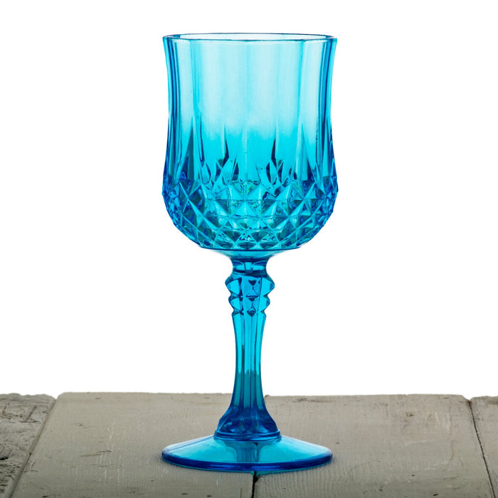Blue Acrylic Diamond Goblet