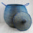 "Blue African Basket Bell Jar With Lid - Medium (24.5""h)"