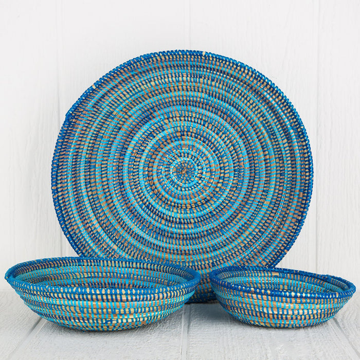 Blue African Bowl - Large