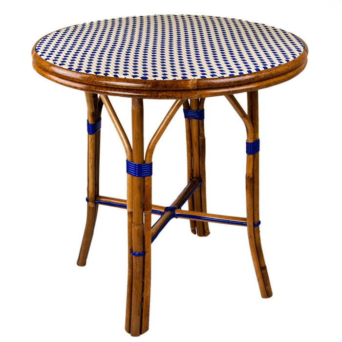 Blue & Cream Mediterranean Bistro Table (2 Seater)