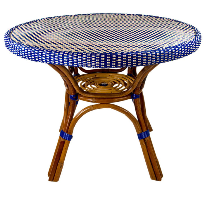 Blue & Cream Mediterranean Bistro Table (4 Seater)