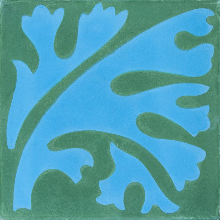 "Blue & Green Algue Carocim Tile (8"" x 8"") (pack of 12)"