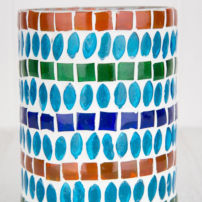 Blue & Green Mosaic Candle Holder
