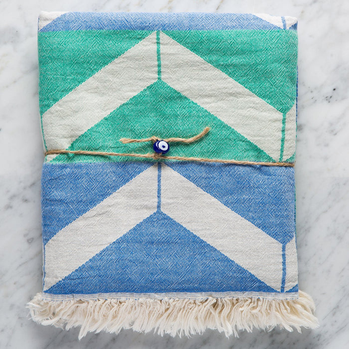 Blue & Green Plata Towel