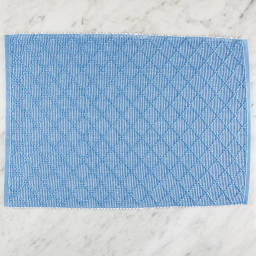 "Blue & White Fill 100% Cotton Rep Weave Placemat (19.25"" x 13"")"