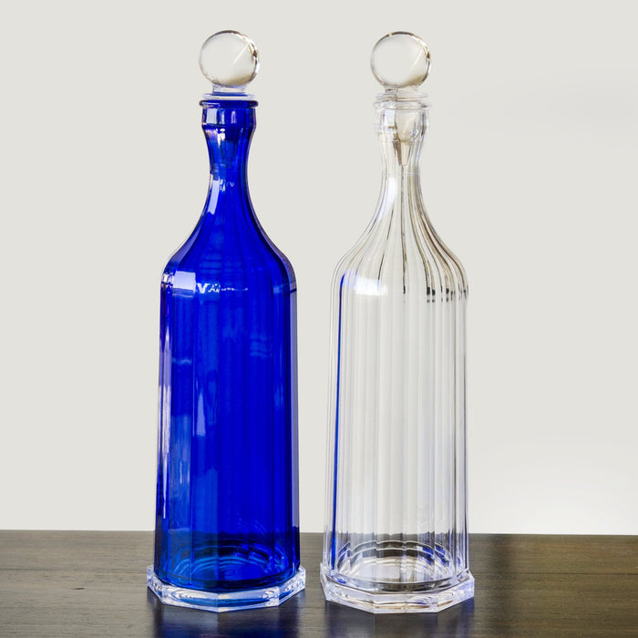 "Blue Bona Decanter with Stopper (12"" h)"