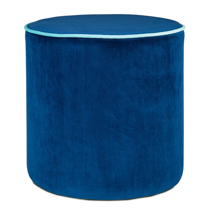 Blue Countra Pouf