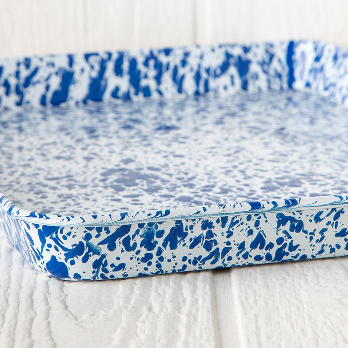 Blue Enamelware Jelly Roll Pan
