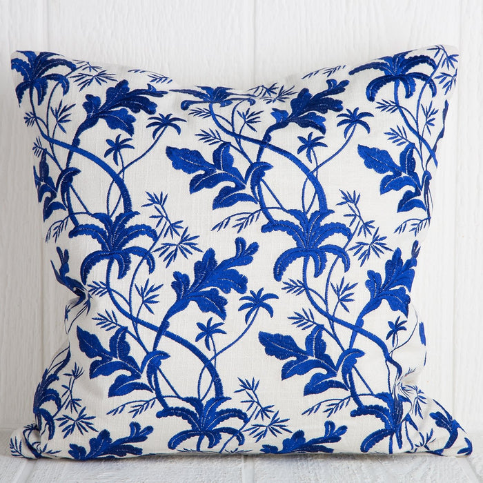 Blue Floral Pillow