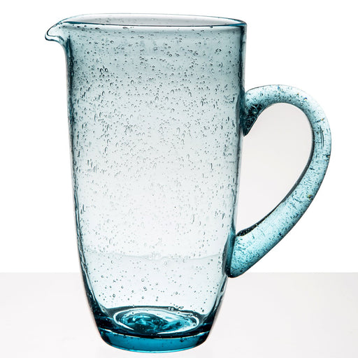 Blue Glass Bubble Pitcher