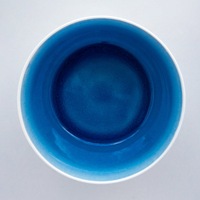 Blue Gloss Glazed Crackle Bowl