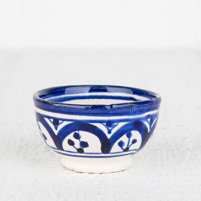 Blue Hand Painted Moroccan Bowl (XS)