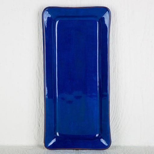 Handmade Blue Rectangle Serving Dish