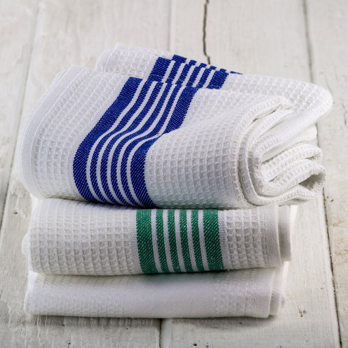 Blue Honeycomb Pique Kitchen Towel