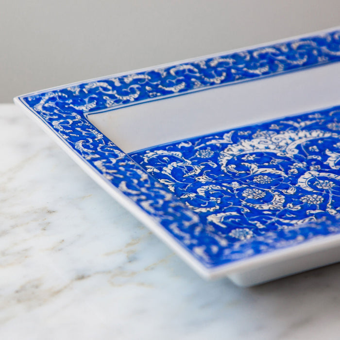 Blue Iznik Turkish Decorative Tray