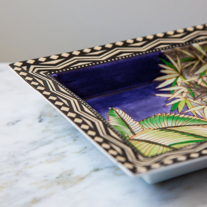 Blue Jungle Decorative Tray