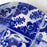 Fine Stoneware Blue and White Dessert Plate