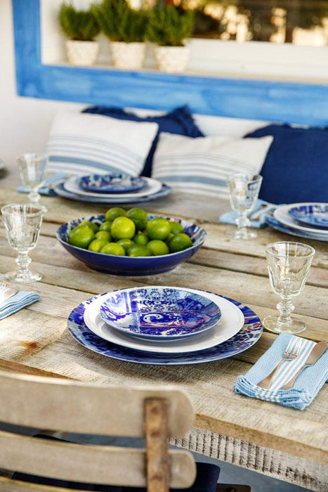Blue Lisboa Salad Dessert Plates (4-Piece Set)