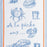 Blue Marine 100% Cotton Tea Towel