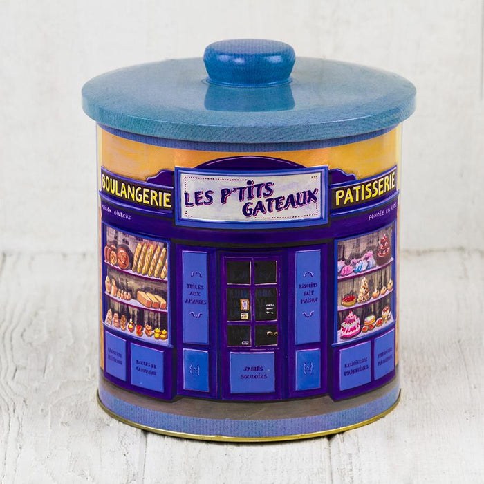 Blue Metal Biscuit Tin